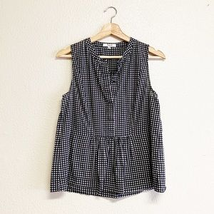 Madewell Gingham Pleated Tank